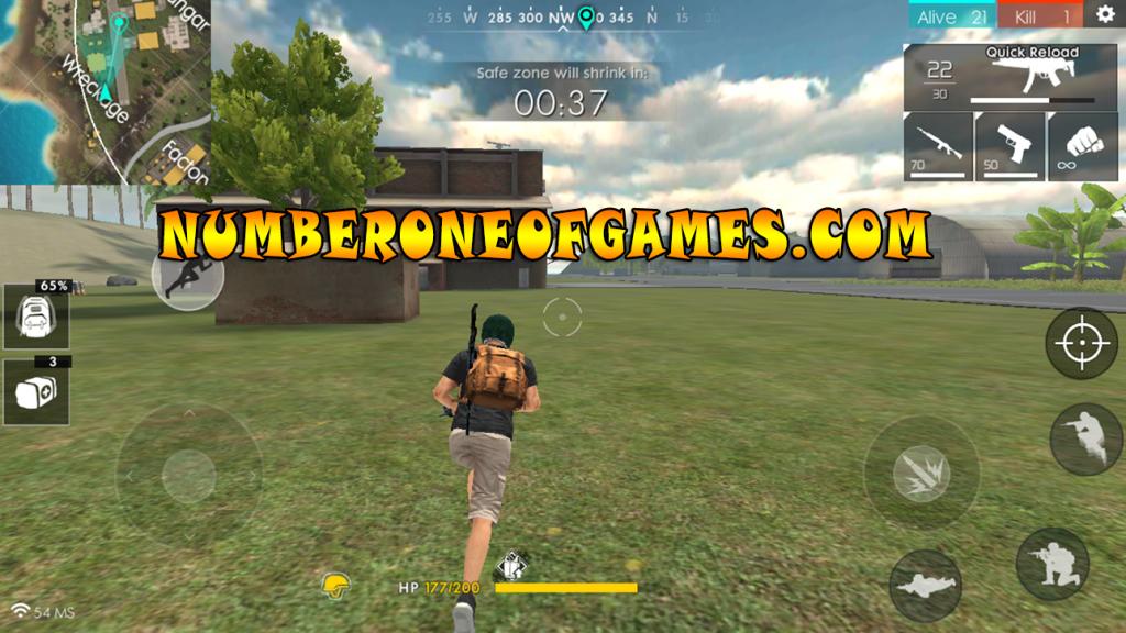 free fire battlegrounds gameplay